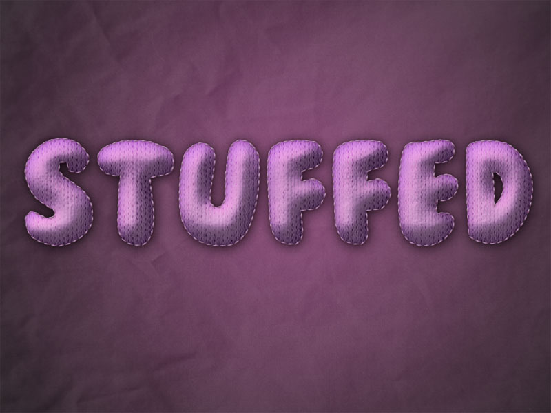 How to Create Stuffed Text Effect in Photoshop