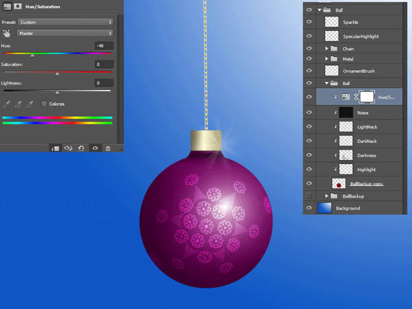 How To Create a Christmas Ornament Ball 33