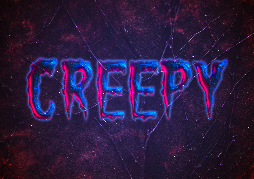 Create a Creepy Halloween Text Effect