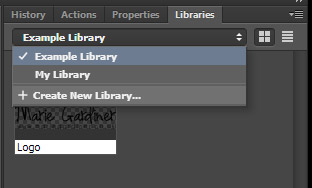 How to Use Libraries Panel in Photoshop 3