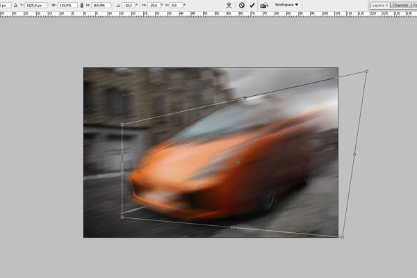 How to Create Effect of Rapid Movement in Photoshop 3
