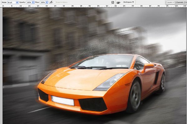 How to Create Effect of Rapid Movement in Photoshop 11
