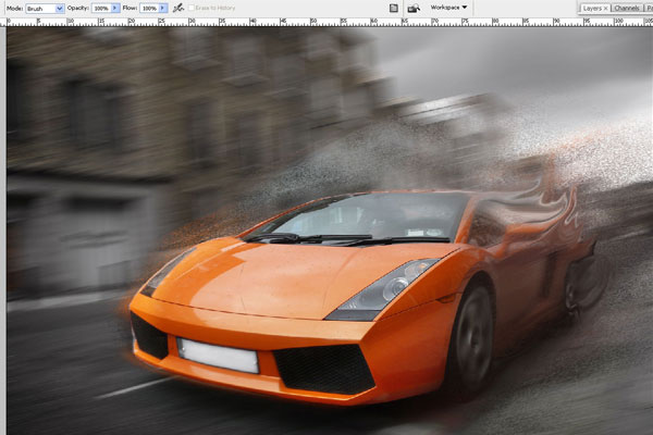 How to Create Effect of Rapid Movement in Photoshop 14