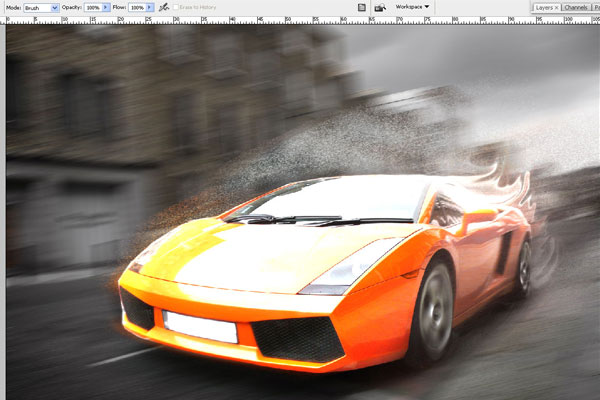 How to Create Effect of Rapid Movement in Photoshop 15
