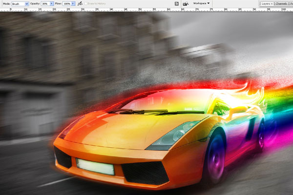 How to Create Effect of Rapid Movement in Photoshop 21