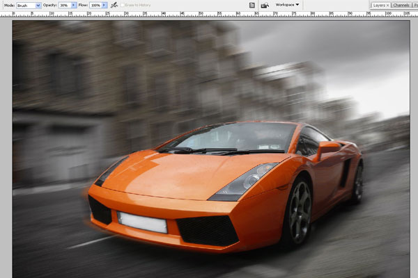 How to Create Effect of Rapid Movement in Photoshop 7