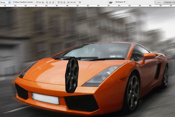 How to Create Effect of Rapid Movement in Photoshop 9