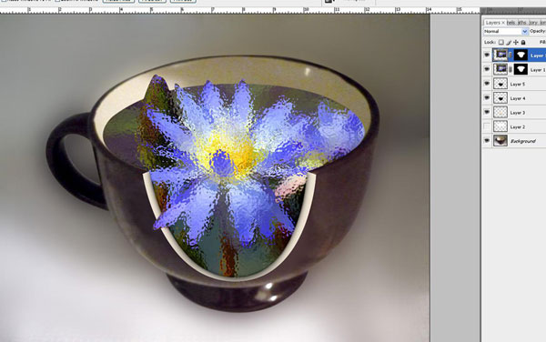Create a Water Lily in a Cup Effect in Photoshop 28