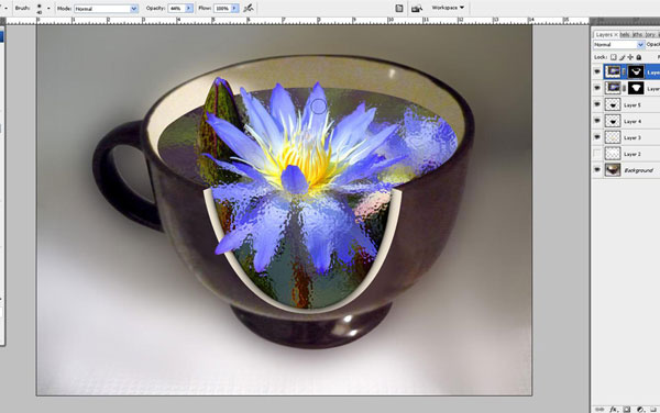 Create a Water Lily in a Cup Effect in Photoshop 29