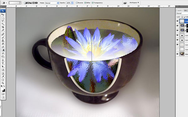 Create a Water Lily in a Cup Effect in Photoshop 31