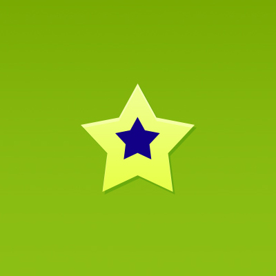 Cool glossy star logo photoshop star for How to draw a perfect star shape