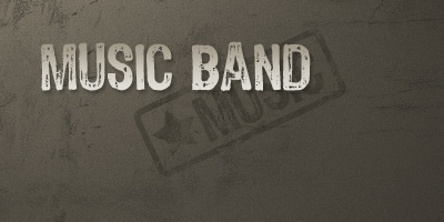 music band text