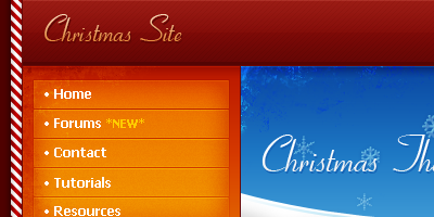 Christmas Web Layout