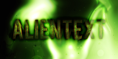Alien-Like Text Effect Tutorial Result