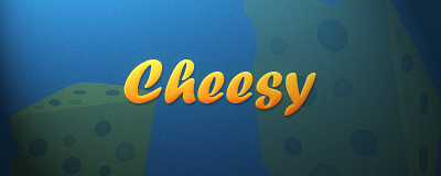 Cheesy Text Tutorial Result